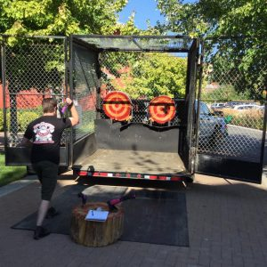 axe monkeys, edmonton, las vegas, Kelowna, RAGE ROOM, Axe Throwing, mobile unit